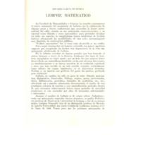 Leibniz, matemático