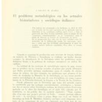 RAMA, Carlos M. El problema metodolóigico en los actuales historiadores y sociólogos italianos.PDF