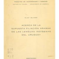 BLIXEN, Olaf - Acerca de la supuesta filiación Arawak de las lenguas indígenas del Uruguay.PDF