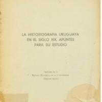 ODDONE, Juan Antonio - La historiografía uruguaya en el siglo XIX, apuntes para su estudio .PDF