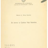 SILVA GARCIA, Mario A. - En torno a Carlos Vaz Ferreira.PDF