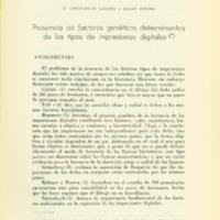 LÁZARO, R. Constancio ; KOLSKI, Renée - Presencia de factores genéticos determinantes de los tipos.PDF