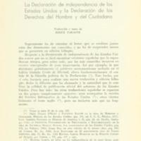 La declaración de independencia de lso Estados Unidos y la declaración de los derechos humanos y del ciudadano.PDF
