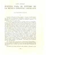 Fuentes para el estudio de la música colonial uruguaya. - AYESTARAN, Lauro.pdf