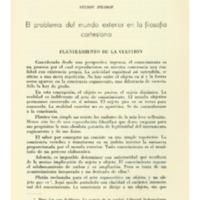 PILOSOF, Nelson - El problema del mundo exterior en la filosofía cartesiana.PDF