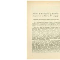 Cátedra de investigación y enseñanza superior de las ciencias del lenguaje. Creación de un centro de estudios.pdf
