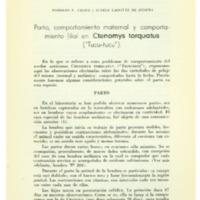 TALICE, Rodolfo V.; LAFFITTE DE MOSERA, Susana - Parto, comportamiento maternal y comportamiento filial....PDF