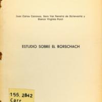 CARRASCO, J.C; et.al - Estudio sobre el Rorschach.PDF