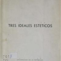 Tres ideales estéticos.pdf