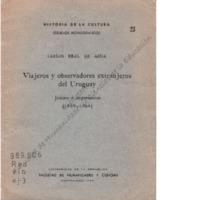 Viajeros y observadores extranjeros del Uruguay : juicios e impresiones (1889-1964)