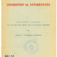 GONZALEZ FERREIRA, Nelda - Ante Garcilaso y la egloga el dogma del amor en la egloga primera.PDF