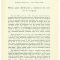 GERZENSTEIN, Eugenio; CHEBATAROFF, Jorge - Notas sobre distribución y migración de aves en el Uruguay.PDF
