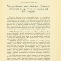 SORIANO SEÑORANS, Juan - Nota preliminar sobre Loricaria...p. 265-266.PDF