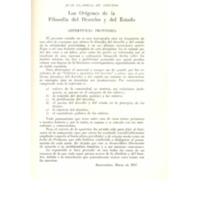 Los orígenes de la Filosofía del Derecho y el Estado