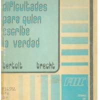 BRECHT, Bertolt - Cinco dificultades para quien escribe la verdad.PDF