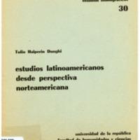 HALPERIN DONGHI, Tulio - Estudios latinoamericanos desde perspectiva norteamericana.PDF