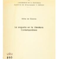 CÁCERES, Esther de - La angustia en la Literatura Contemporánea.PDF
