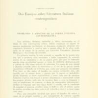 CIANCIÒLO, Umberto - Dos ensayos sobre literatura italiana contemporánea.PDF