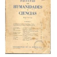 Tapa con hipertexto Revista de la Facultad de Humanidades y Ciencias, Año 1, Nº 1 - Abril 1947.pdf