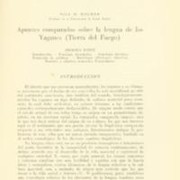 HOLMER, Nils M. Apuntes comprakdos sobre la lengua de los Yaganes (Tierra del Fuego).PDF