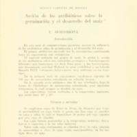 LAFFITTE DE MOSERA, Susana - Acción de los antibiótico sobre la germinación y el desarrollo del maíz.PDF