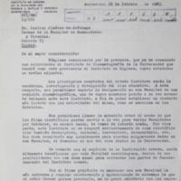 Nota dirigida al Decano sobre Estatuto y Reglamento General del Instituto de Cinematografía de la Universidad (I.C.U.)