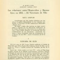 PARIS, M. Blanca; CABRERA PIÑON, Querandy - Las relaciones enrte Montevideo y Buenos Aires en 1811. El Virreinato de Elío.pdf