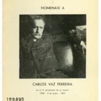 VAZ FERREIRA DE ECHEVARRÍA, Sara - Homenaje a Carlos Vaz Ferreira en el V aniversario de su muerte.PDF
