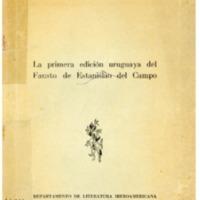AYESTARAN, Lauro - La primera edición uruguaya del Fausto de Estanislao del Campo.PDF