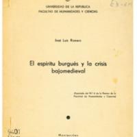 ROMERO, José Luis - El espíritu burgués y la crisis bajomedieval.PDF